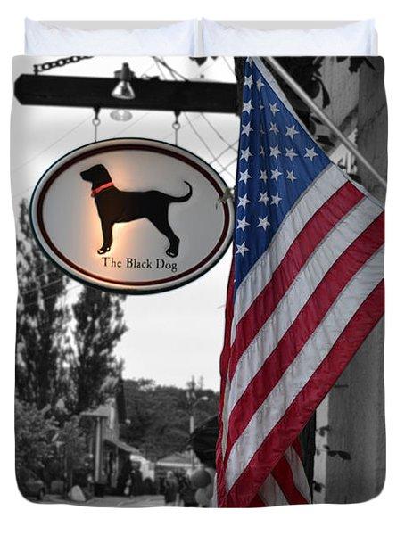 The Black Dog Store Duvet Cover by Angela DeFrias