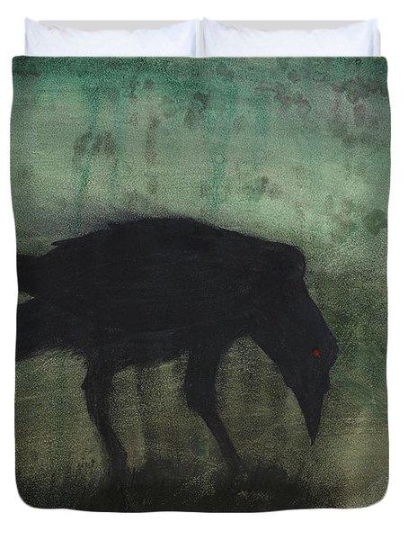The Black Flag Of Himself Duvet Cover by Jim Stark