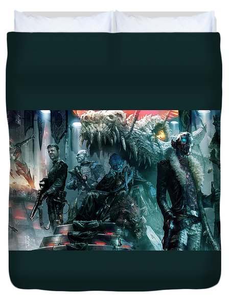 The Black Hole Gang Duvet Cover