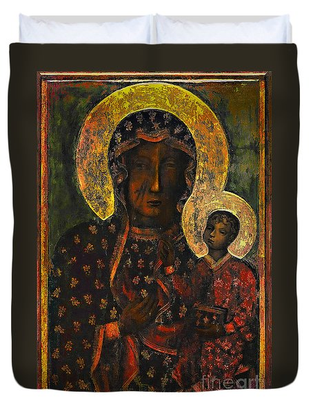 The Black Madonna Duvet Cover