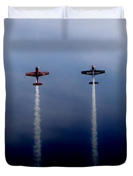 Duvet Cover featuring the photograph The Blades Going Up Sunderland Air Show 2014 by Scott Lyons