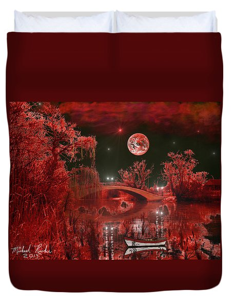 The Blood Moon Duvet Cover by Michael Rucker