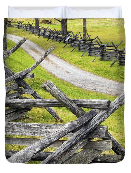 The Bloody Lane At Antietam Duvet Cover