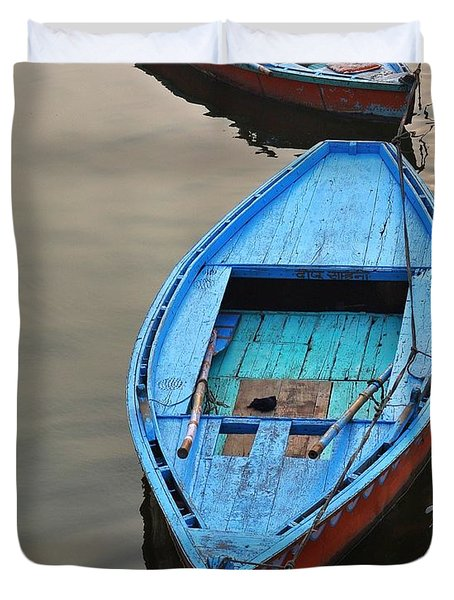 The Blue Boat Duvet Cover