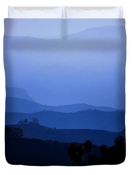 Duvet Cover featuring the photograph The Blue Hills by Matt Harang