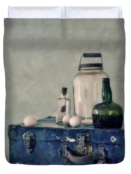 The Blue Suitcase Duvet Cover