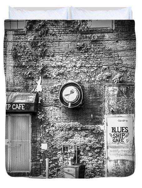 The Blues Ship Cafe Duvet Cover