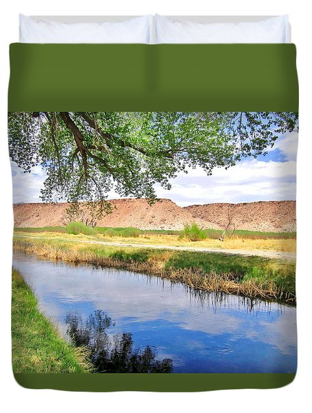 Duvet Cover featuring the photograph The Bluffs by Marilyn Diaz