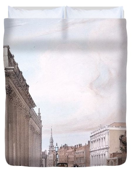 The Board Of Trade, Whitehall Duvet Cover by Thomas Shotter Boys