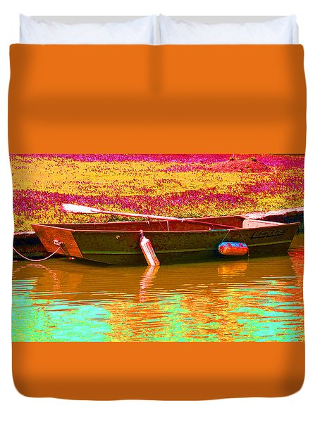 The Boat Duvet Cover by Barbara McDevitt
