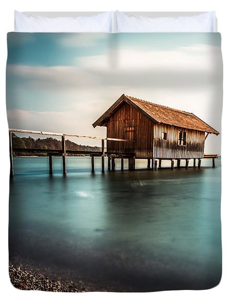 The Boats House II Duvet Cover