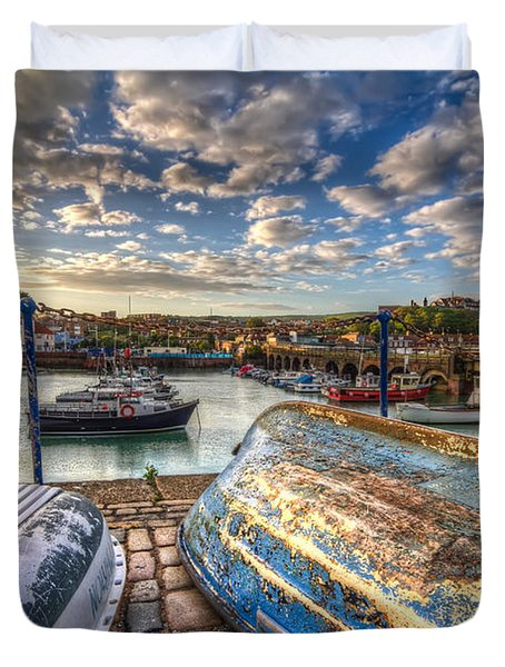 The Boats Of Folkestone Duvet Cover