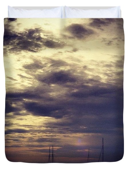 The Boats, Singapore Duvet Cover