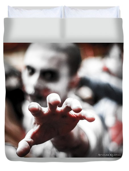 Duvet Cover featuring the photograph The Brain Snatcher by Stwayne Keubrick