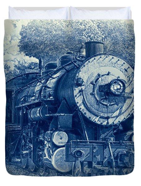 The Brakeman - Vintage Duvet Cover by Robert Frederick