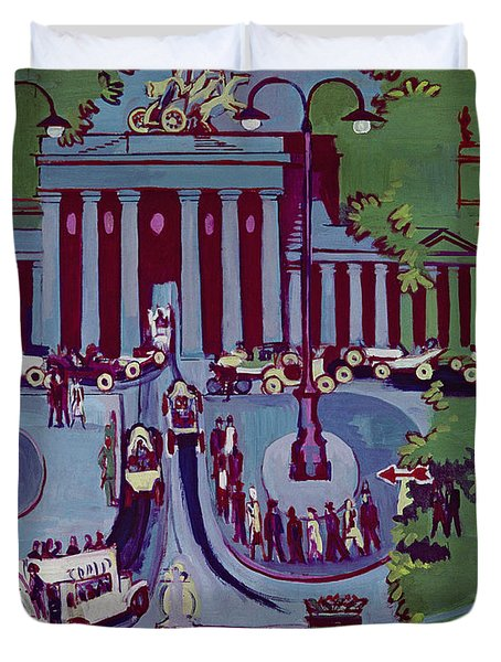 The Brandenburg Gate Berlin Duvet Cover by Ernst Ludwig Kirchner