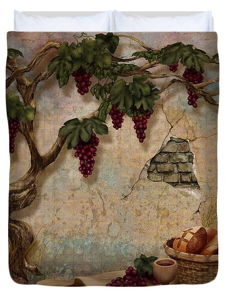 The Bread And The Vine Duvet Cover