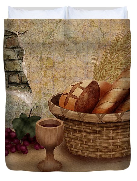 The Bread Of Life Duvet Cover