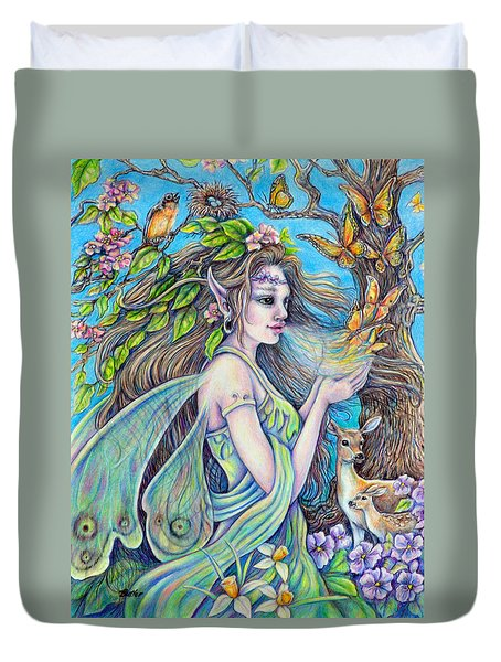 The Breath Of Spring Duvet Cover by Gail Butler