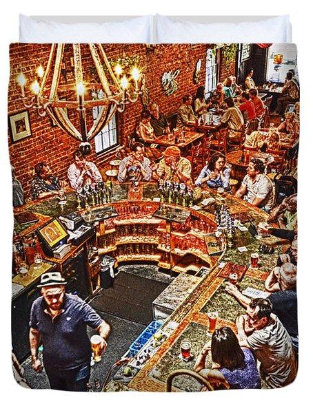 The Brick Store Pub Duvet Cover by Paul Mashburn