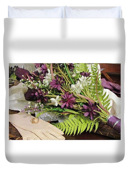 Duvet Cover featuring the photograph The Bride To Be by Cynthia Guinn