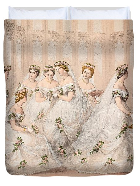 The Bridesmaids, 10th March, 1863 - Marriage Of Edward Vii And Alexandra Of Denmark Duvet Cover