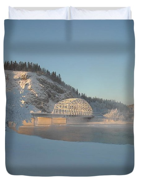 The Bridge At Big Delta 2 Duvet Cover