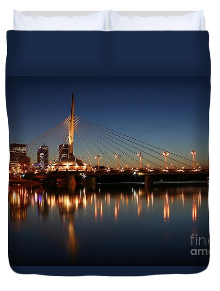 The Bridge Over Calm Waters Duvet Cover by Teresa Zieba