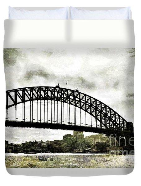 The Bridge Spattled Duvet Cover