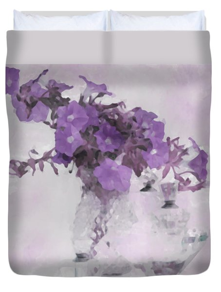 The Broken Branch - Digital Watercolor Duvet Cover by Sandra Foster