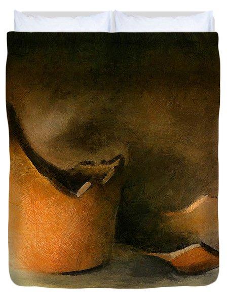 The Broken Terracotta Pot Duvet Cover by Michelle Calkins