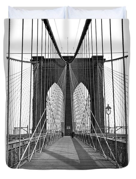 The Brooklyn Bridge Duvet Cover by Underwood Archives