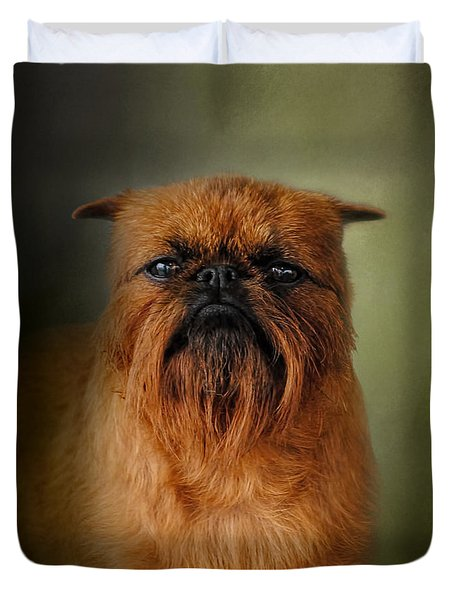 The Brussels Griffon Duvet Cover by Jai Johnson