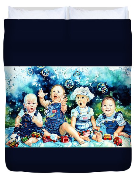 The Bubble Gang Duvet Cover by Hanne Lore Koehler