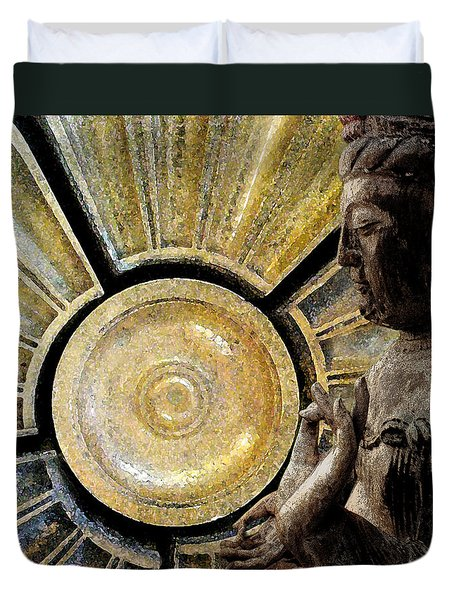 the Buddha  c2014  Paul Ashby Duvet Cover