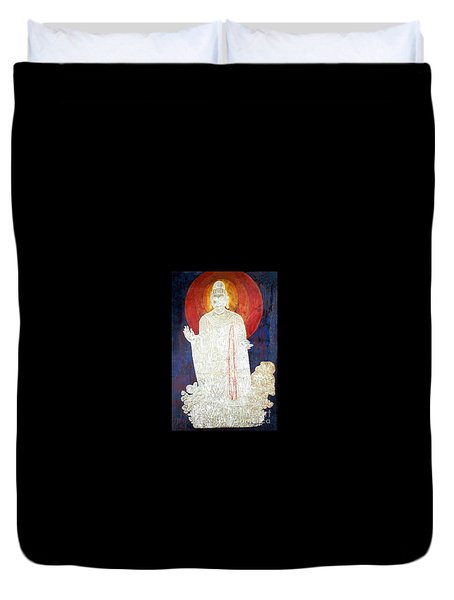 Duvet Cover featuring the painting The Buddha's Light by Fei A