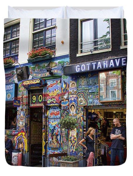 The Bulldog Coffee Shop - Amsterdam Duvet Cover