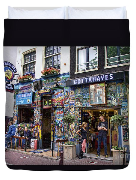 The Bulldog Coffee Shop - Amsterdam Duvet Cover