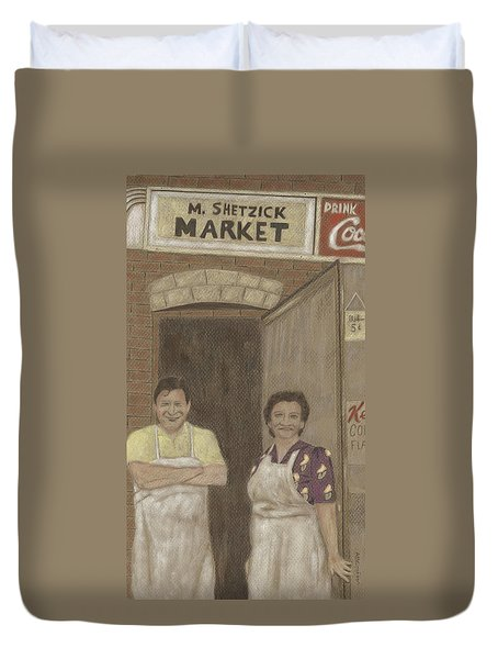 The Butcher And His Wife  Duvet Cover