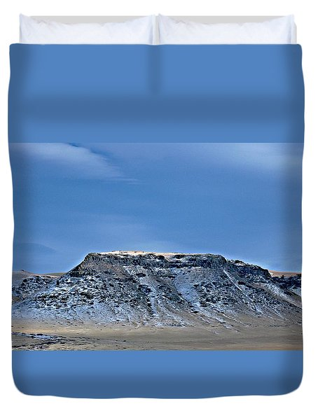 Duvet Cover featuring the photograph The Butte by Joseph J Stevens