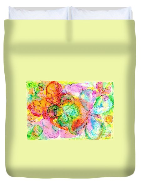 The Butterfly Dance Duvet Cover