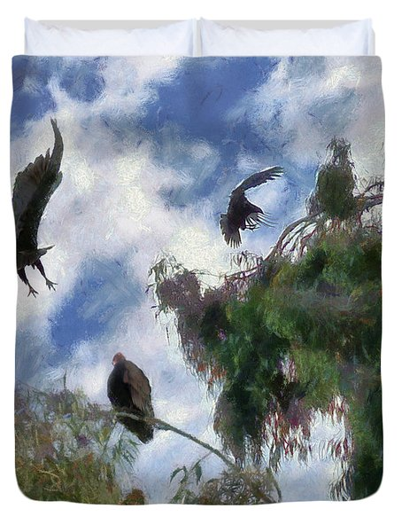 The Buzzard Tree Duvet Cover