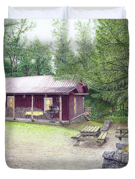 The Cabin In The Woods Duvet Cover by Albert Puskaric
