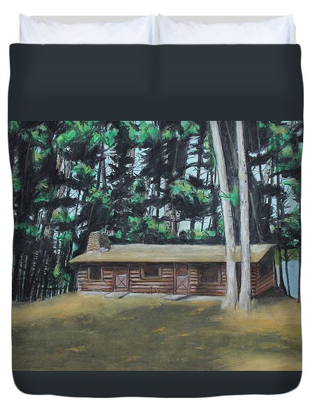 The Cabin Duvet Cover by Jeanne Fischer