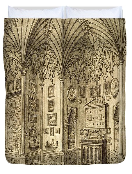 The Cabinet, Engraved By T. Morris Duvet Cover by English School