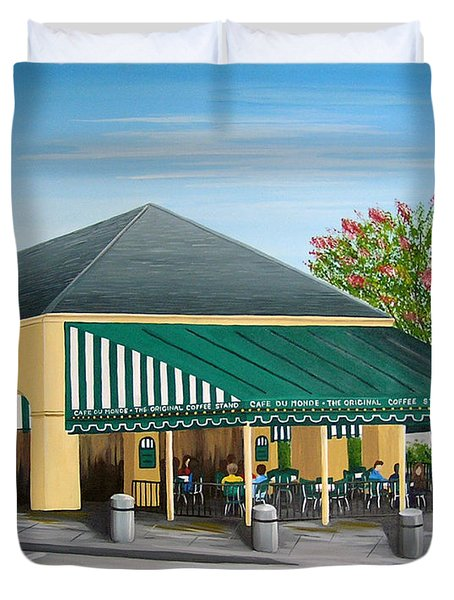 The Cafe Duvet Cover
