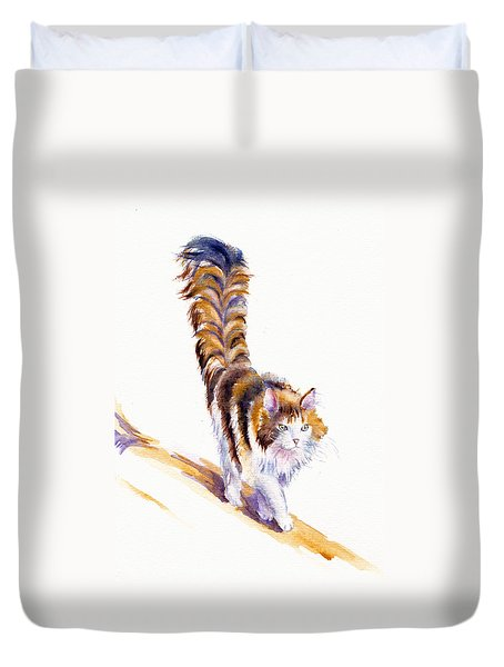 The Calico Cat That Walked By Himself Duvet Cover