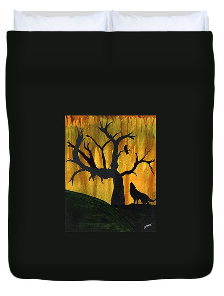 The Call And Response Of The Wild Duvet Cover by Jim Stark