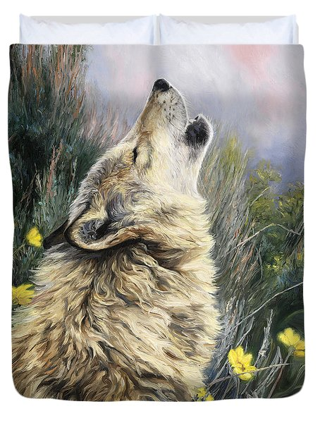 The Call Duvet Cover by Lucie Bilodeau