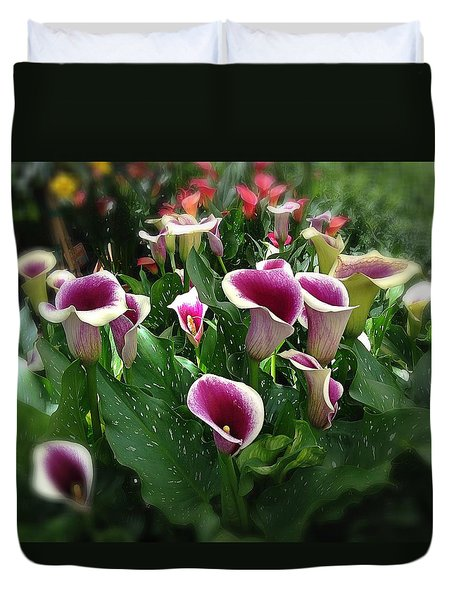 The Calla Lilies Are In Bloom Again Duvet Cover